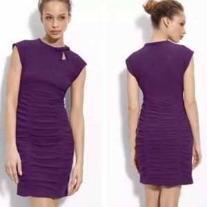 Nanette Lepore Cosmic Crepe Purple Cocktail Dress